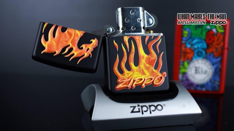 Zippo 29735 - Zippo Flaming Dragon Black Matte 9