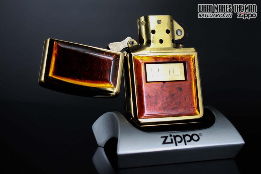 ZIPPO LA MÃ 1990 - GOLDEN TORTOISE – MẠ VÀNG 22K 1