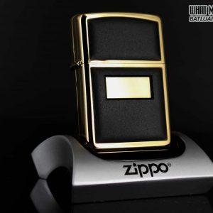ZIPPO LA MÃ 1990 – ZIPPO ULTRALITE BLACK – GOLD PLATE