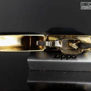 ZIPPO LA MÃ 1990 – ZIPPO ULTRALITE BLACK – GOLD PLATE 7