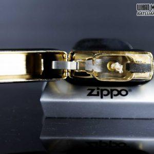 ZIPPO LA MÃ 1996 – ZIPPO ULTRALITE BLACK – GOLD PLATE 7