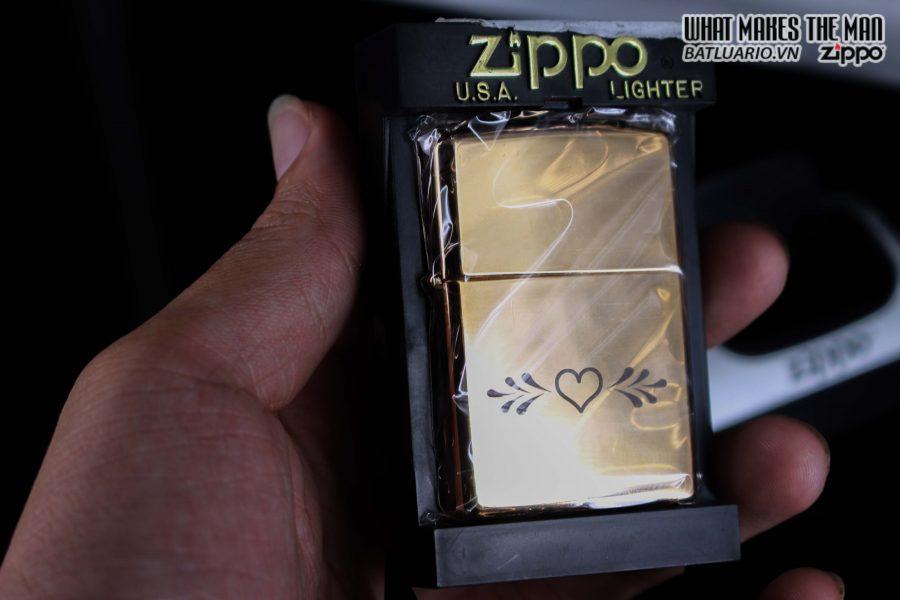 ZIPPO LA MÃ 1997 – ROSE GOLD – VALENTINE'S DAY – MẠ VÀNG HỒNG 2
