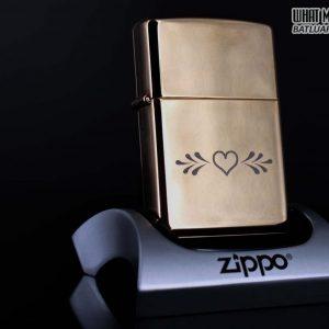 ZIPPO LA MÃ 1997 – ROSE GOLD – VALENTINE'S DAY – MẠ VÀNG HỒNG