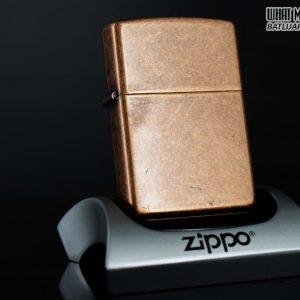 ZIPPO LA MÃ 1998 – ANTIQUE COPPER – MẠ ĐỒNG ĐỎ GIẢ CỔ