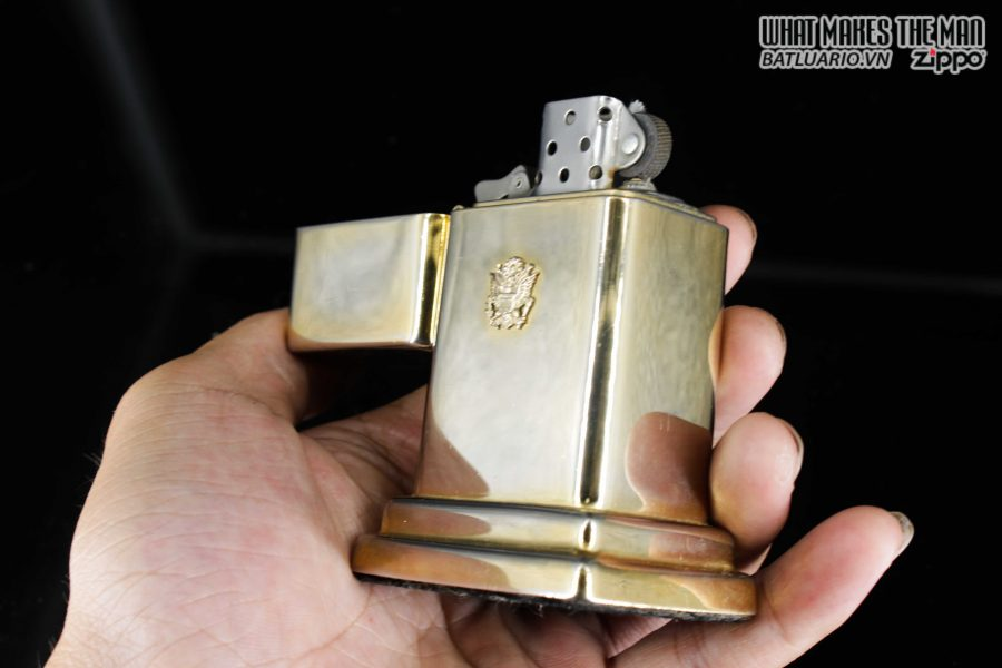ZIPPO TABLE #4 - 1954 - 1979 - US ARMY - GOLD PLATE 12