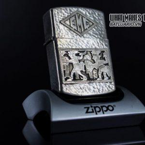 ZIPPO 1940S – BẠC KHỐI GUATEMALA – STERLING SILVER 900 – EMBLEM BẠC KHỐI