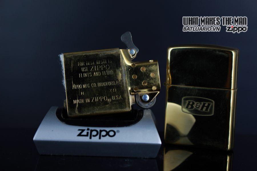 ZIPPO LA MÃ 1996 – ĐỒNG NGUYÊN KHỐI – B&H 2