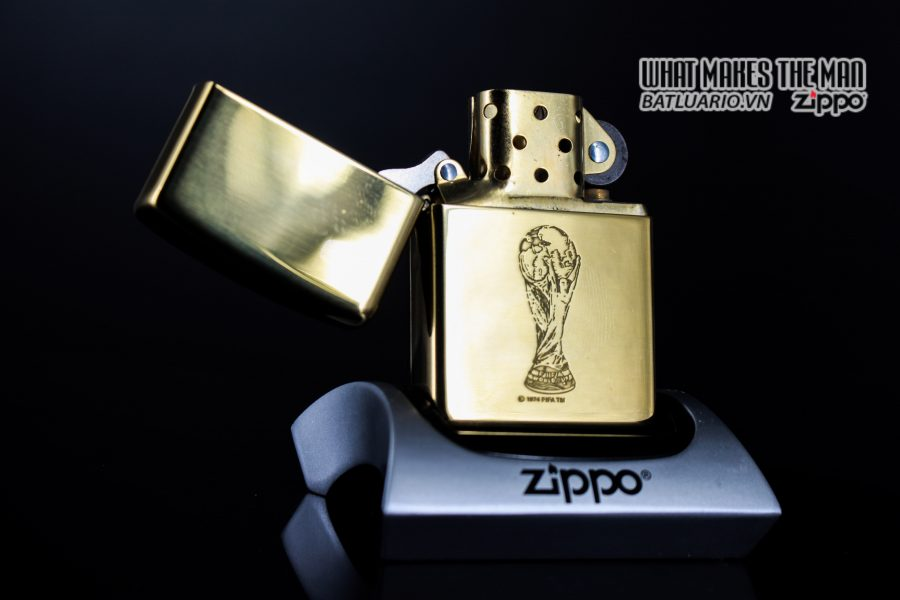 ZIPPO LA MÃ 1997 – FRANCE 98 – HIGH POLISHED BRASS 10