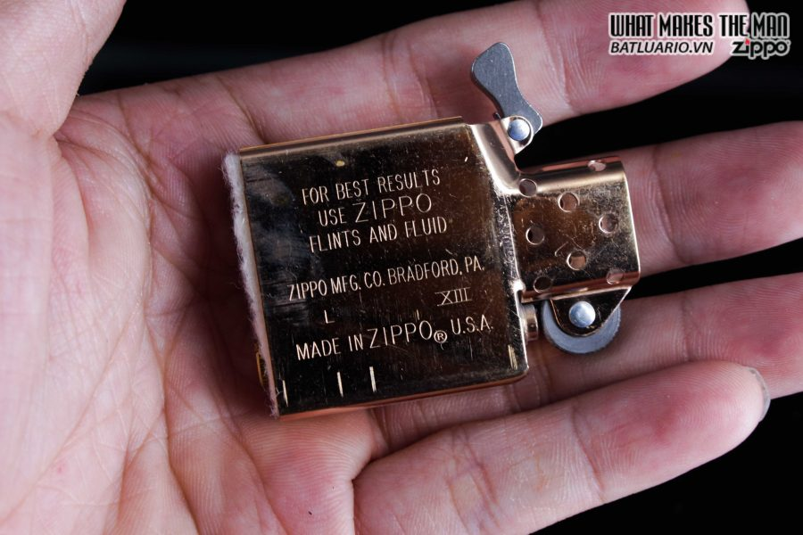 ZIPPO LA MÃ 1997 – REPLICA 1937 – MẠ VÀNG HỒNG – ROSE GOLD 3