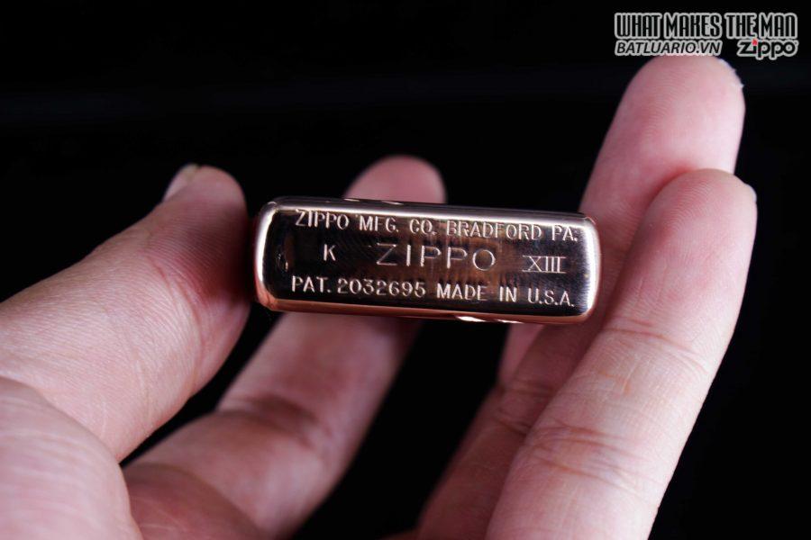 ZIPPO LA MÃ 1997 – REPLICA 1937 – MẠ VÀNG HỒNG – ROSE GOLD 5