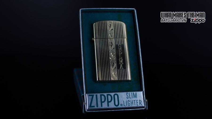 ZIPPO SLIM 1957 – 10K GOLD FILLED – BỌC VÀNG 10K – COBRA HEAD 1