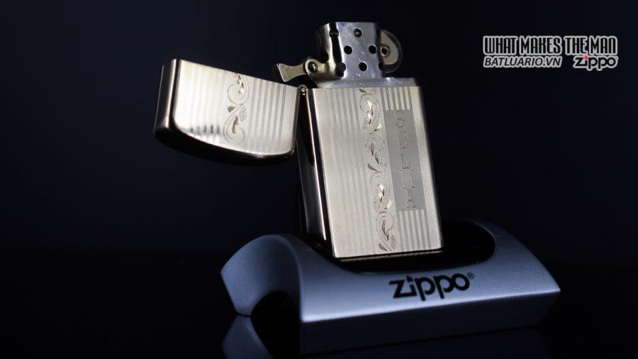 ZIPPO SLIM 1957 – 10K GOLD FILLED – BỌC VÀNG 10K – COBRA HEAD 10