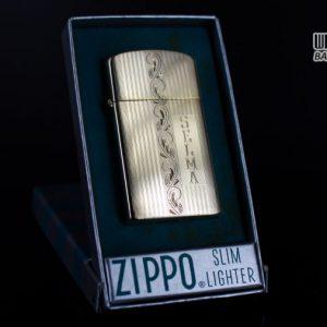 ZIPPO SLIM 1957 – 10K GOLD FILLED – BỌC VÀNG 10K – COBRA HEAD 13