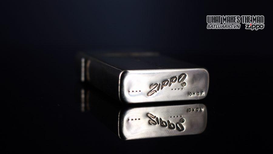 ZIPPO SLIM 1957 – 10K GOLD FILLED – BỌC VÀNG 10K – COBRA HEAD 2