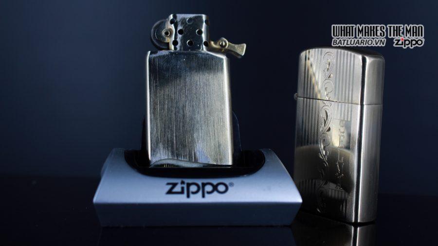 ZIPPO SLIM 1957 – 10K GOLD FILLED – BỌC VÀNG 10K – COBRA HEAD 3
