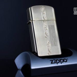 ZIPPO SLIM 1957 – 10K GOLD FILLED – BỌC VÀNG 10K – COBRA HEAD