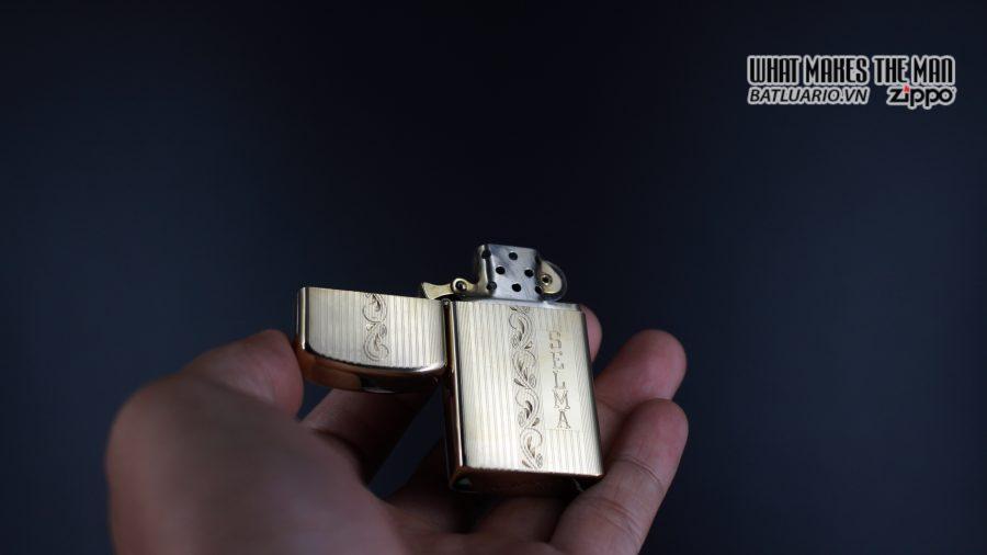 ZIPPO SLIM 1957 – 10K GOLD FILLED – BỌC VÀNG 10K – COBRA HEAD 6