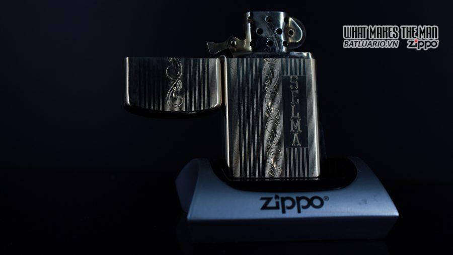 ZIPPO SLIM 1957 – 10K GOLD FILLED – BỌC VÀNG 10K – COBRA HEAD 8