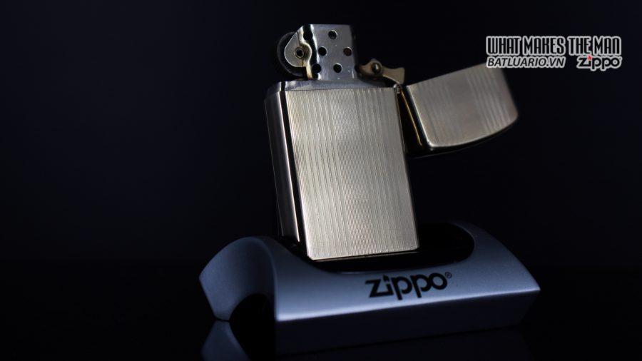 ZIPPO SLIM 1957 – 10K GOLD FILLED – BỌC VÀNG 10K – COBRA HEAD 9