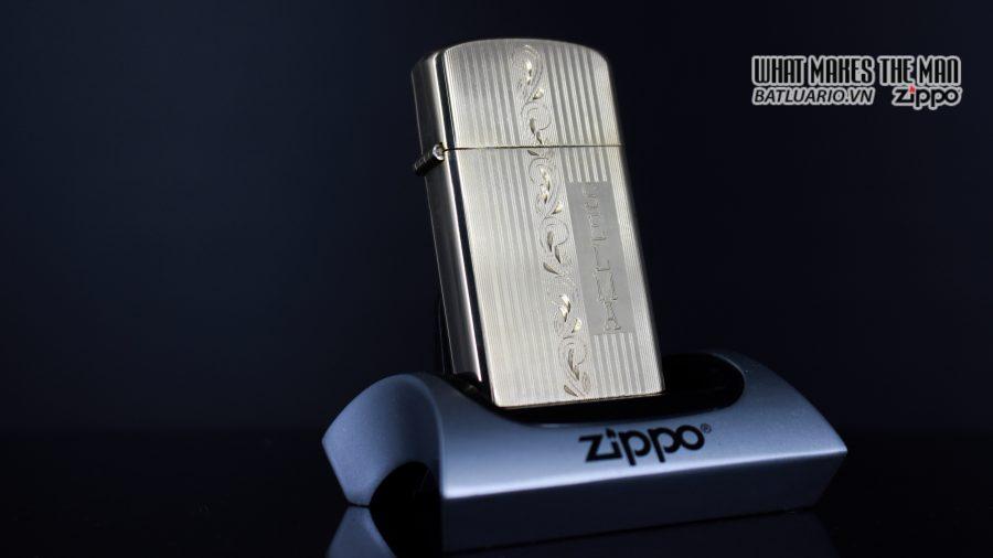 ZIPPO SLIM 1957 – 10K GOLD FILLED – BỌC VÀNG 10K – COBRA HEAD