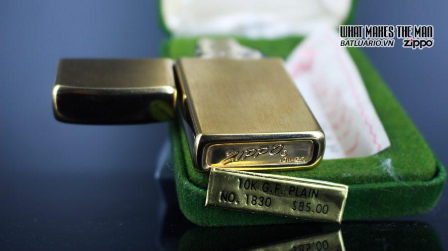 ZIPPO SLIM 1970S – 10K GOLD FILLED 12