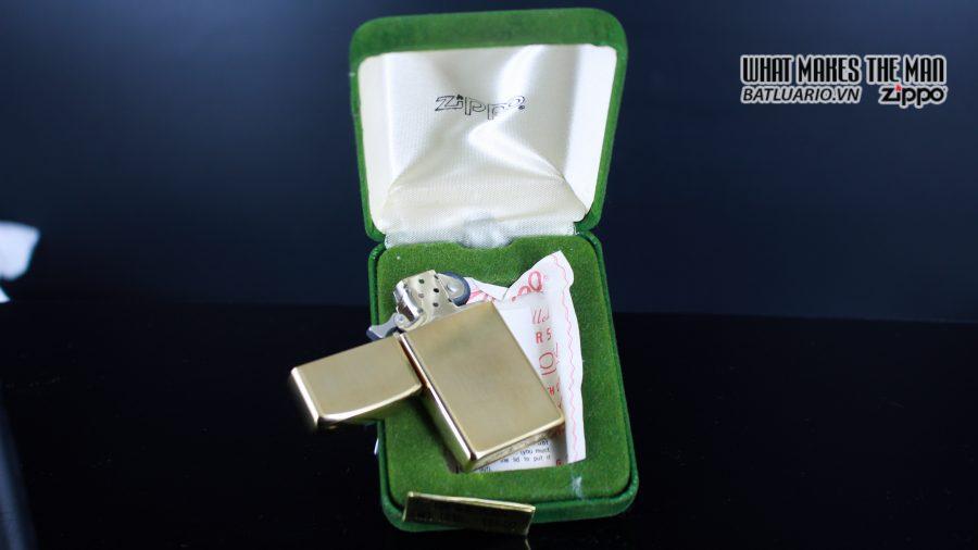 ZIPPO SLIM 1970S – 10K GOLD FILLED 17