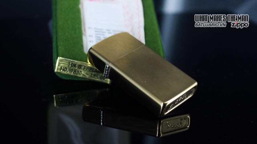 ZIPPO SLIM 1970S – 10K GOLD FILLED 3