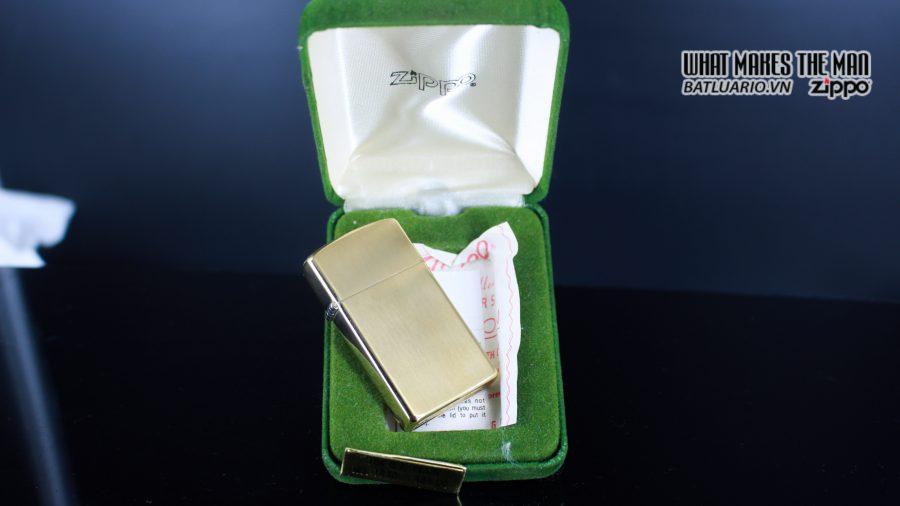 ZIPPO SLIM 1970S – 10K GOLD FILLED