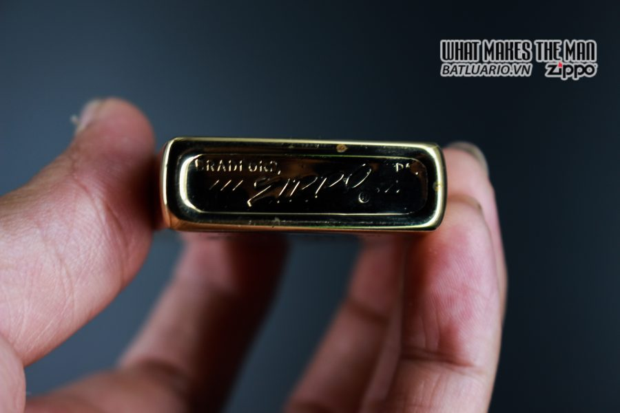 ZIPPO XƯA 1976 – MẠ VÀNG 22K – GOLD PLATE GOLDEN ELEGANCE 10