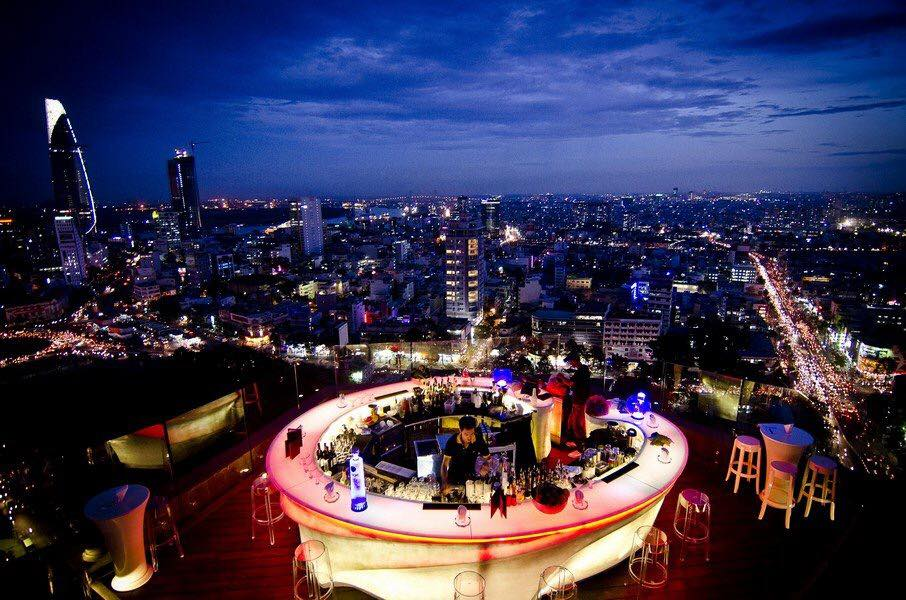 Địa điểm chức Event: Chill Skybar - Rooftop 26th Floor AB Tower - 76A Le Lai, District 1, HCM