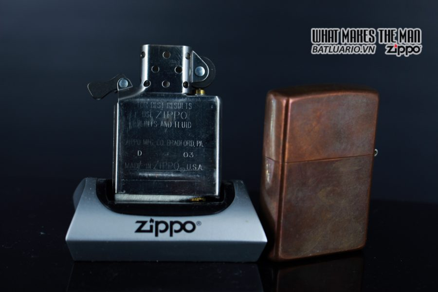ZIPPO 2003 – SOLID COPPER – MARLBORO BLEND NO 27 6