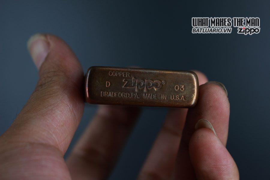 ZIPPO 2003 – SOLID COPPER – MARLBORO BLEND NO 27 7