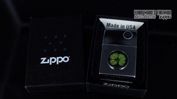ZIPPO 2010 – ZIPPO CỎ 4 LÁ THẬT 1