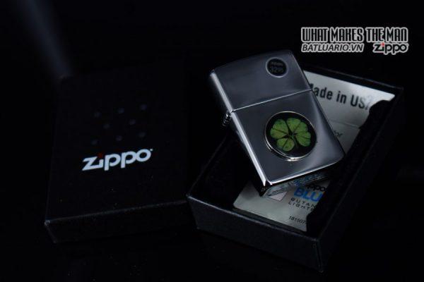 ZIPPO 2010 – ZIPPO CỎ 4 LÁ THẬT 4