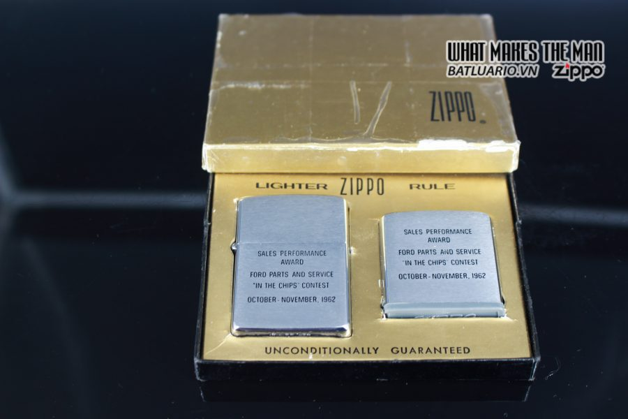 ZIPPO GIFT SET – ZIPPO XƯA 1962 – ROTUNDA – SALES PERFORMANCE AWARD 1