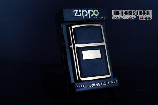 ZIPPO LA MÃ 1988 – ZIPPO ULTRALITE BLACK – GOLD PLATE – TOM 1