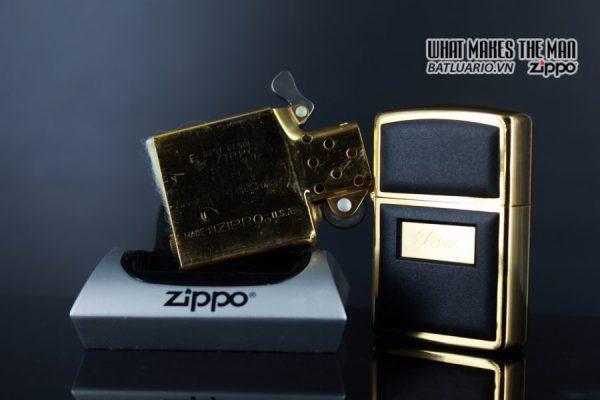 ZIPPO LA MÃ 1988 – ZIPPO ULTRALITE BLACK – GOLD PLATE – TOM 2