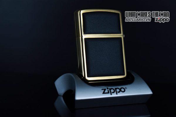 ZIPPO LA MÃ 1988 – ZIPPO ULTRALITE BLACK – GOLD PLATE – TOM 8