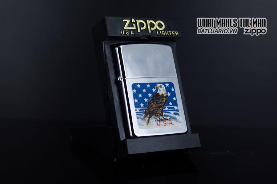 ZIPPO LA MÃ 1990 – AMERICAN EAGLE 1