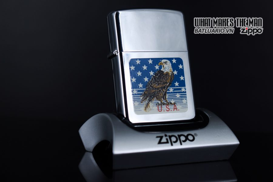 ZIPPO LA MÃ 1990 – AMERICAN EAGLE