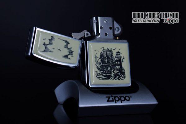 ZIPPO LA MÃ 1990 – SCRIMSHAW SHIP 8