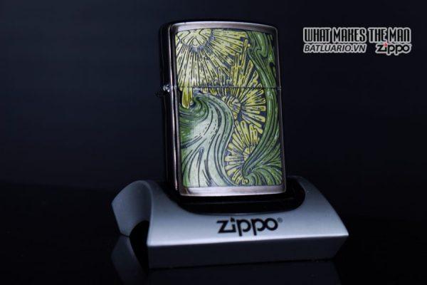 ZIPPO LA MÃ 1992 – BARRET SMYTHE MIDNIGHT COLECTION – ART NOUVEAU