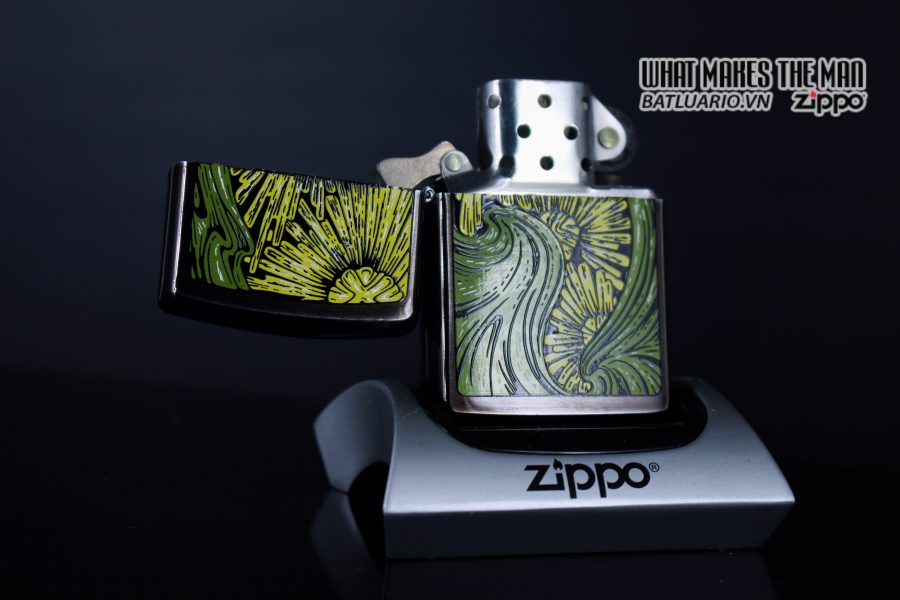 ZIPPO LA MÃ 1992 – BARRET SMYTHE MIDNIGHT COLECTION – ART NOUVEAU 9