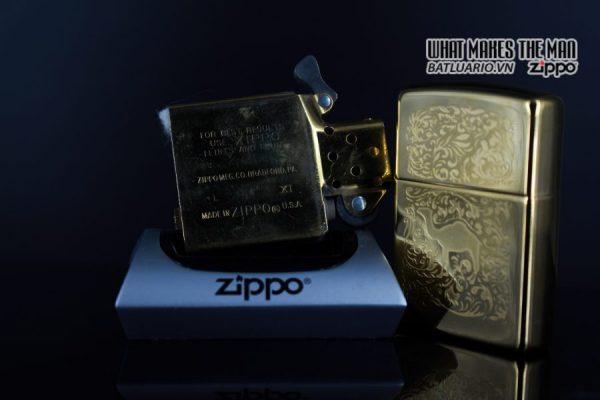 ZIPPO LA MÃ 1996 – CAMEL GOLD PLATE 22K – MẠ VÀNG 22K 2