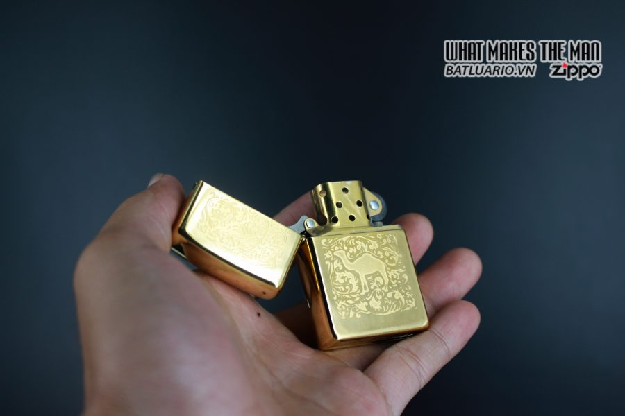 ZIPPO LA MÃ 1996 – CAMEL GOLD PLATE 22K – MẠ VÀNG 22K 4