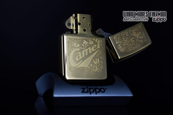 ZIPPO LA MÃ 1996 – CAMEL GOLD PLATE 22K – MẠ VÀNG 22K 8