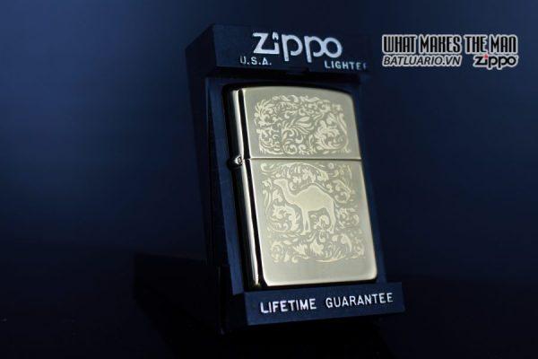 ZIPPO LA MÃ 1996 – CAMEL GOLD PLATE 22K – MẠ VÀNG 22K 9