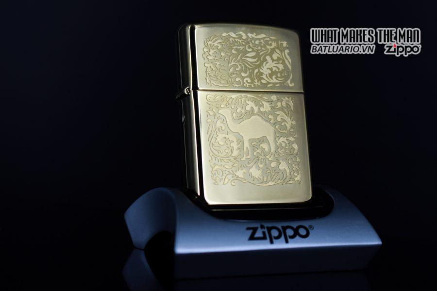 ZIPPO LA MÃ 1996 – CAMEL GOLD PLATE 22K – MẠ VÀNG 22K