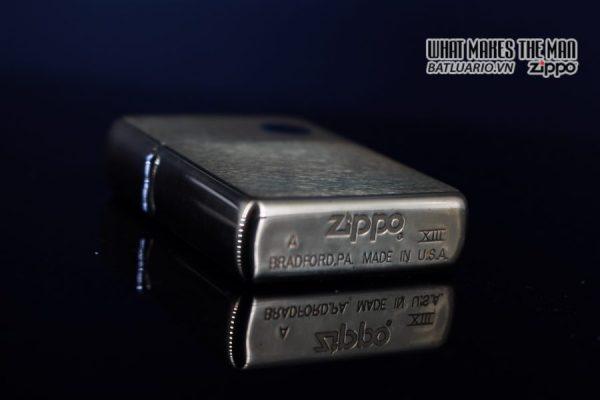 ZIPPO LA MÃ 1997 – ĐỒNG NGUYÊN KHỐI – TRƠN 2 MẶT 6