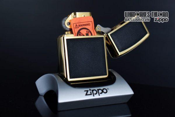ZIPPO LA MÃ 1997 – ZIPPO ULTRALITE BLACK – GOLD PLATE 5